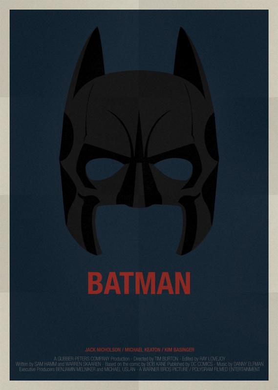 Máscaras e seus filmes, batman
