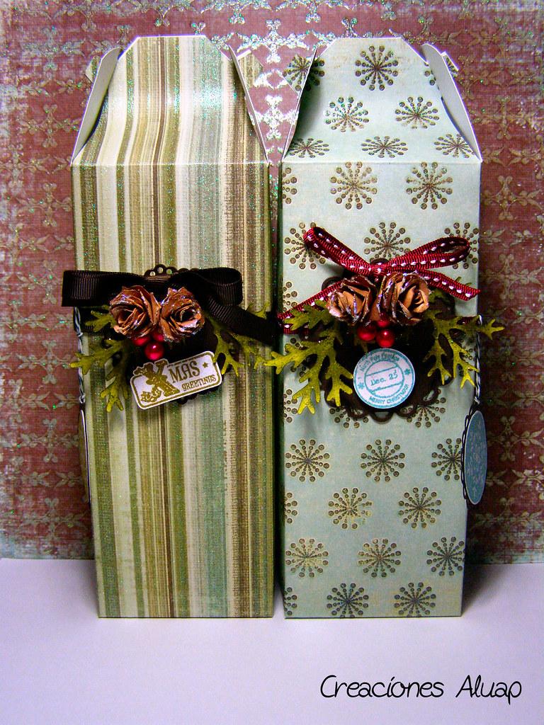 Cajas para regalos de navidad aprender manualidades es - Manualidades cajas decoradas ...
