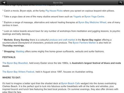 AUSTRALIA: Where to Go iPhone App