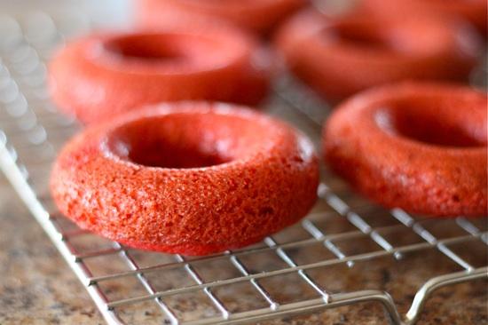 Red Velvet Doughnuts baked