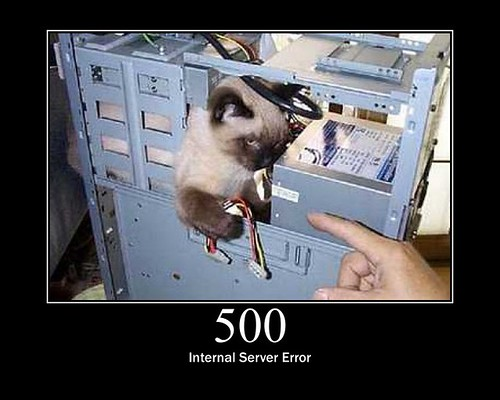 500 - Internal Server Error by GirlieMac