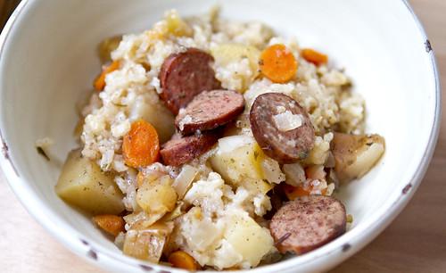 autumn sausage casserole