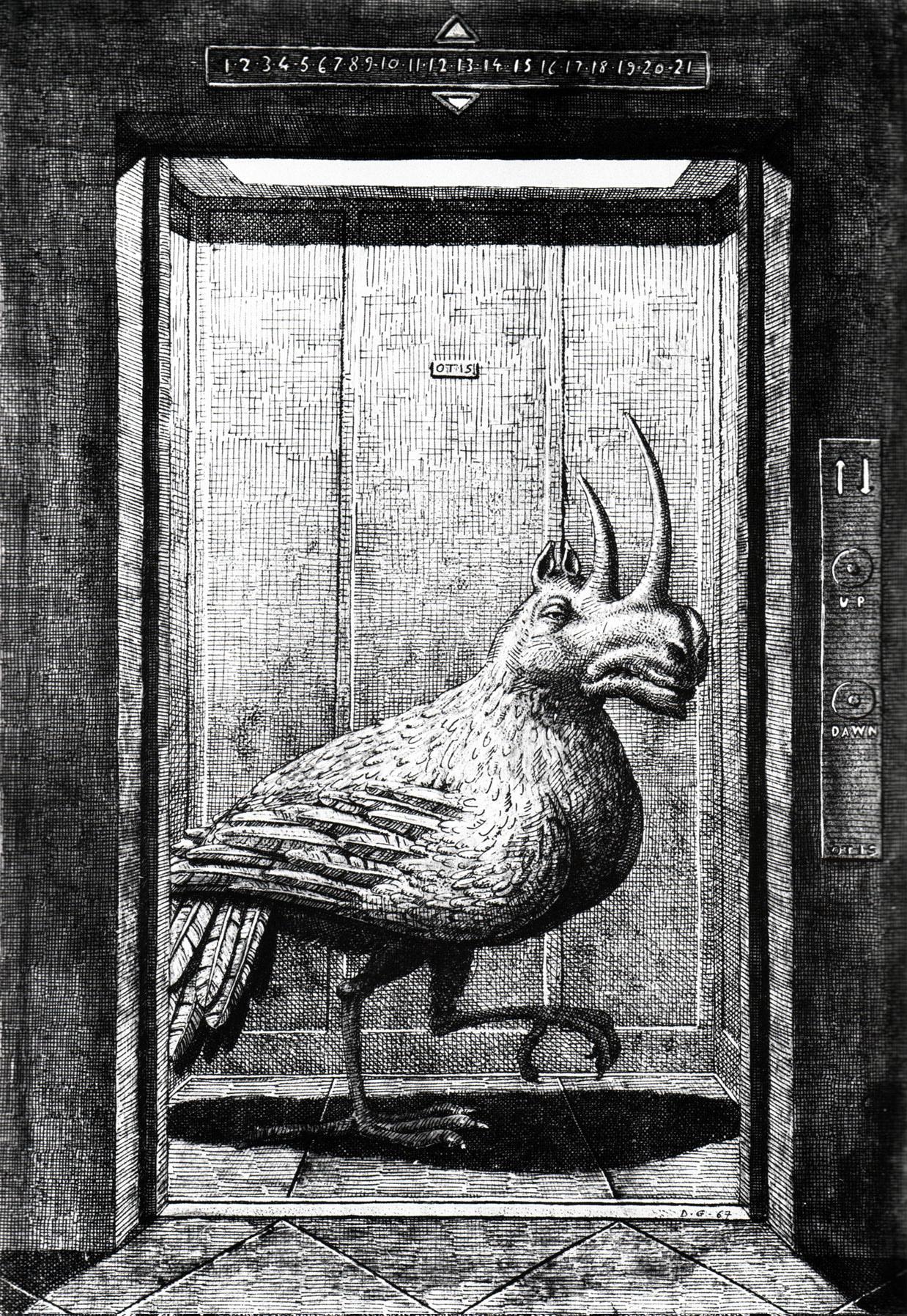 Domenico Gnoli - Modern Bestiary, 1968 (1)