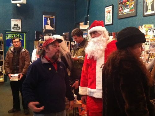 Larry Reid of Fantagraphics and Santa