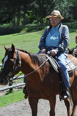 100-year-old cowboy riding horse