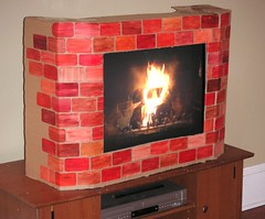 You too can have a recycled fireplace