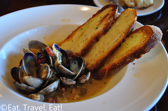 Bistro Boudin: Manila Clams-  Fisherman's Wharf, San Francisco, CA