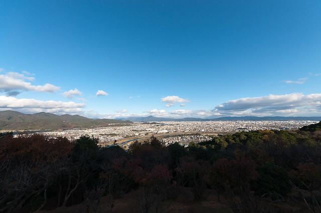 嵐山モンキーパークいわたやまからの景色
