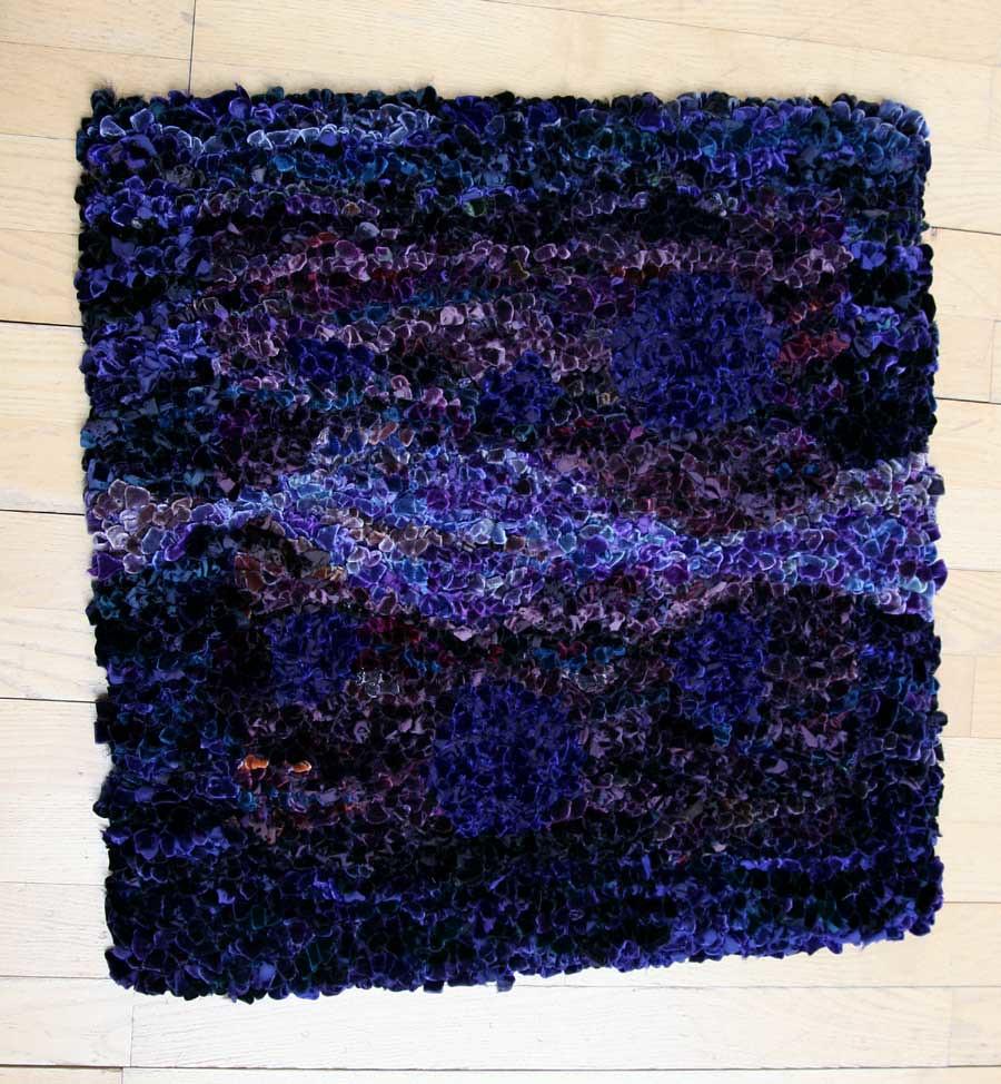 Purple tapestry rug