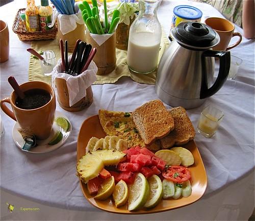 european style breakfast in belize