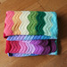 Rainbow ripple blanket by katieskitchenblog
