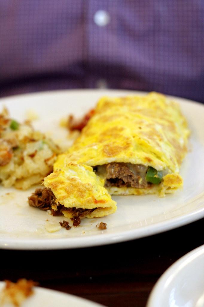 steakfajita omelette
