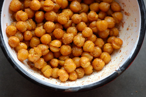 Spiced Roasted Chickpeas by Eve Fox, Garden of Eating blog, copyright 2011