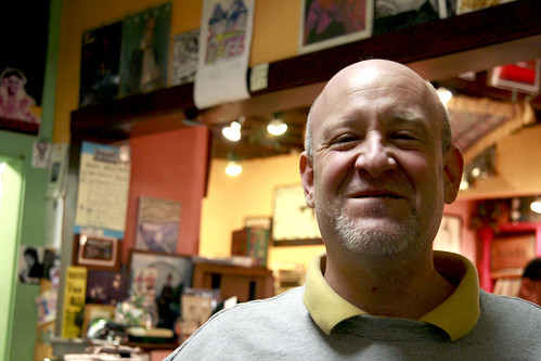 Owner of Zebedee's Record Shop
