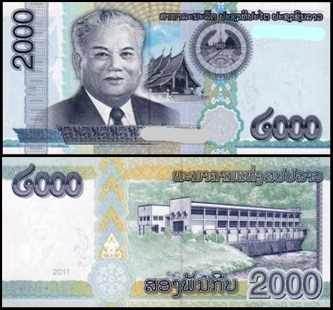 2000 Kip Laos 2011
