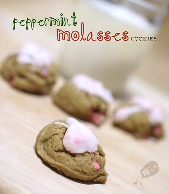 peppermint molasses cookies