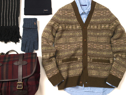 RRL / Fairisle V-Neck Cardigan