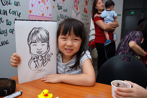 caricature live sketching for birthday party 2nd Oct 2011 - 3