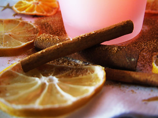 cinnamon with cinnamon sugar and lemon