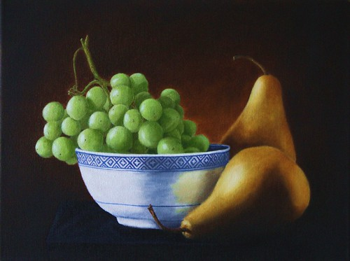 Pears and Grapes by Sid's art