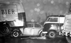 VW Kever, VW T1 spijlbus, DAF (VB-87-04), Nieuwe Hemweg Amsterdam 1965