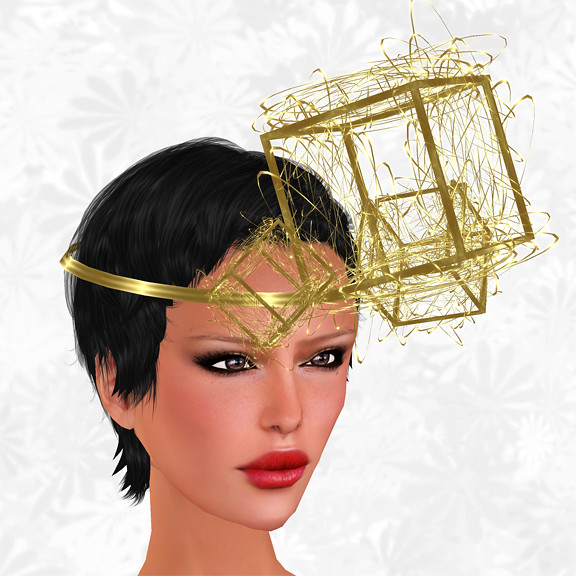 Hunt Item 5 Spaceship Scrap Headpiece Gold