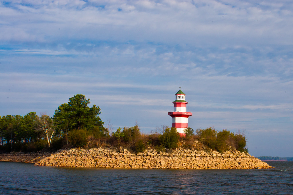 Lanett (AL) United States  city photos : trees sky lighthouse lake reflection water clouds georgia rocks day ...