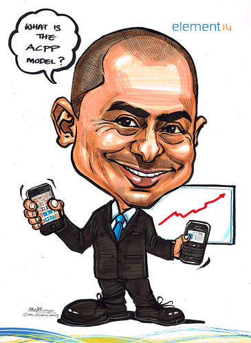 Caricature for element 14 - iPhone & Blackberry