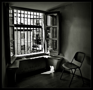 A Seat at a window somewhere in Toledo, Spain.