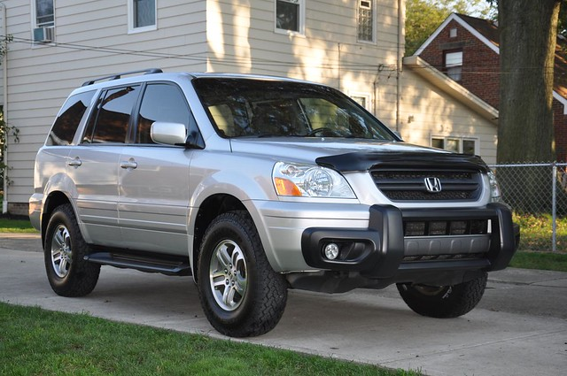 2005 honda pilot with ready lift 2in lift and 235 85 16 39 s flickr photo sharing. Black Bedroom Furniture Sets. Home Design Ideas