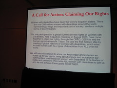 A Call for Action: Claiming our Rights