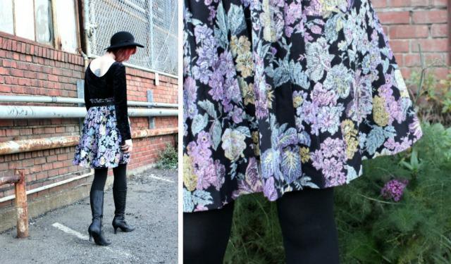 vintage skirt colage