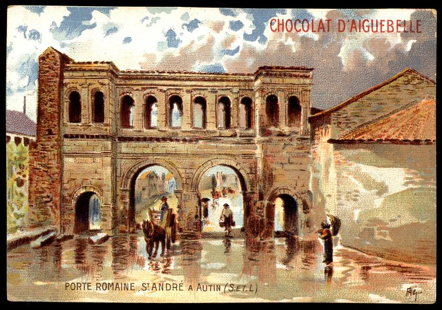 French Tradecard - Port St Andre, Autun