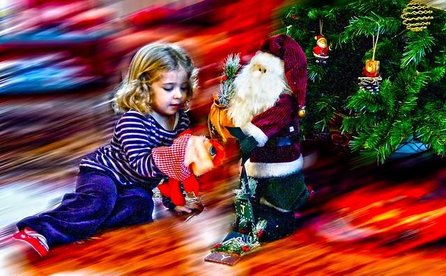 jugando con Papá Noel