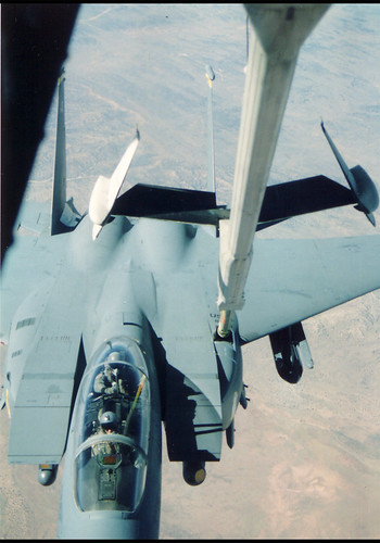 F-15E Refueling from KC-10 during Gulf War