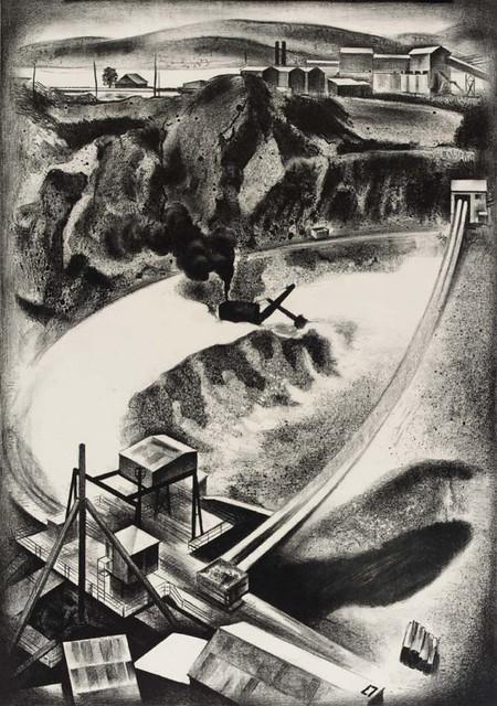 Louis Lozowick, Open Mine (1937)