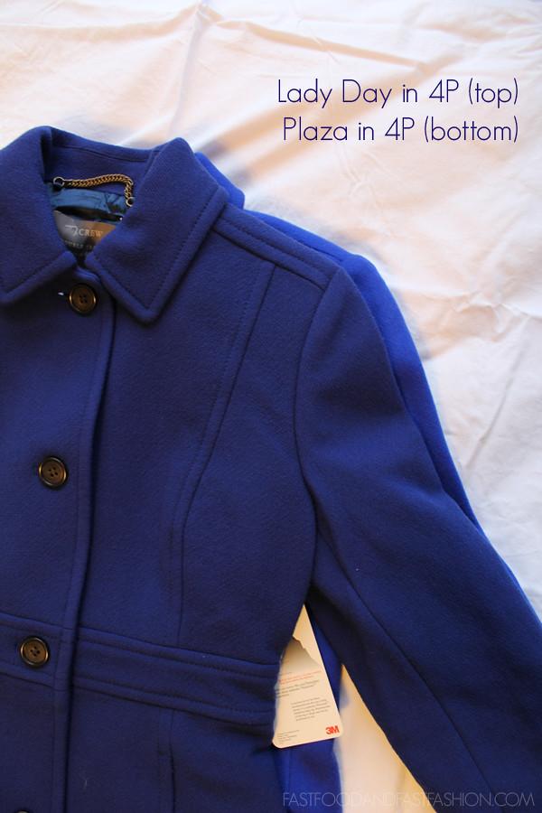 Plaza Coat 4p vs Lady Day Coat 4P J Crew