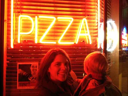 Birthday Photo at Pizza Place