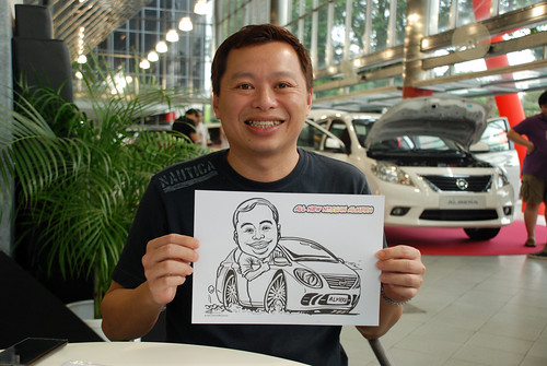 Caricature live sketching for Tan Chong Nissan Almera Soft Launch - Day 1 - 33