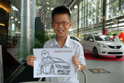 Caricature live sketching for Tan Chong Nissan Almera Soft Launch - Day 2 - 26