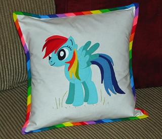 Rainbow Dash Pillow Front