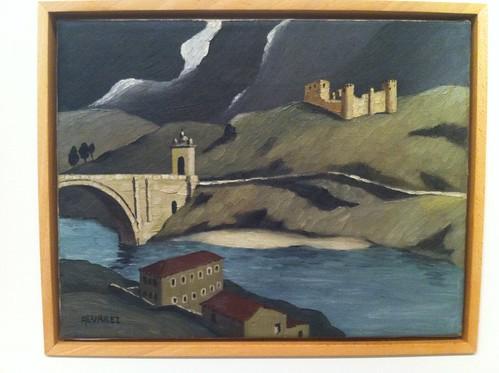 Dominguez Alvarez, Paisagem com castelo, sd