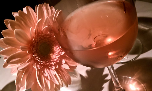 Wine and a flower
