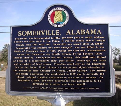 Somerville, Alabama Marker (Somerville, Alabama)