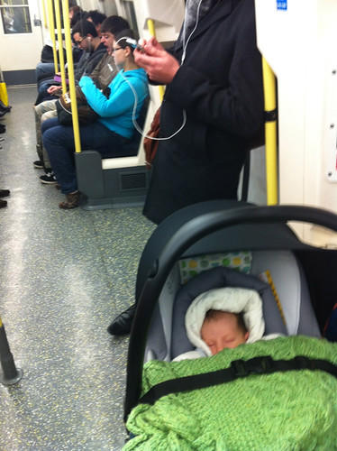 First Tube journey at 3 weeks