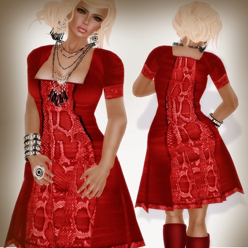 A&A Fashion Eve Dres red