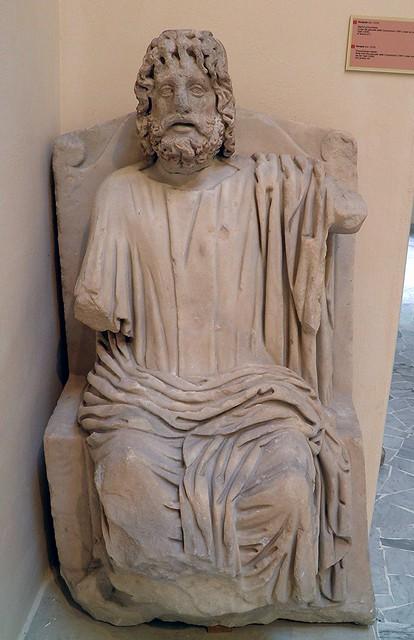 Serapis, body from the Piazzale delle Corporazioni, head from the Via dei Vigili, 3rd century AD, Ostia Antica, Italy