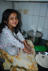 Marziya Making Chappatis For Breakfast by firoze shakir photographerno1