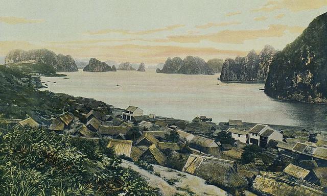 Tonkin - Hongay, village annamite et baie d'Along