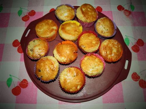 appel-rozijnen muffins